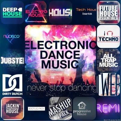 Music 2016 Top 100 Hits Techno House Edm Fitness Remixes, including Wo